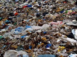 Rubbish disposal landfill